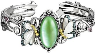 Barbara Bixby Sterling & 18K Multi-Gemstone Butterfly Cuff