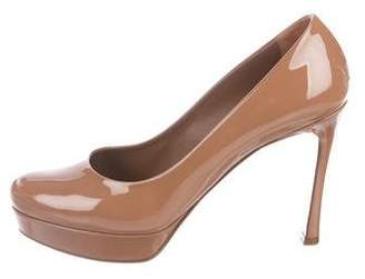 Saint Laurent Gisele 80 Platform Pumps