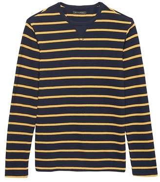 Banana Republic Heritage Stripe Long-Sleeve Crew-Neck T-Shirt
