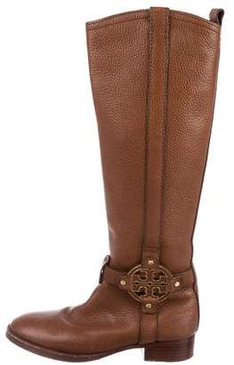Tory Burch Logo Leather Boots