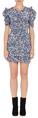 Isabel Marant Women's Brizia Floral Silk-Blend Dress - Blue