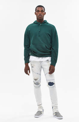 Moto Pacsun Stacked Skinny Zip Acid Wash Jeans