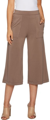 Lisa Rinna Collection Pull-On Knit Culotte Pants