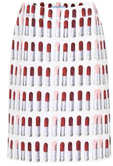 Prada Printed cotton miniskirt