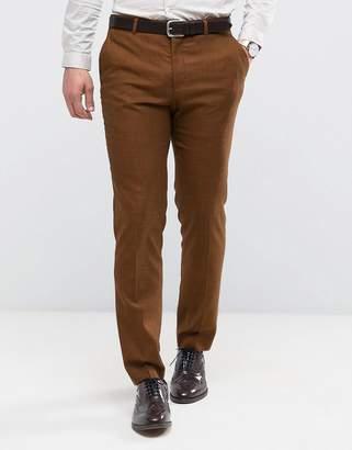 Asos DESIGN WEDDING Skinny Suit Pant in Rust Tonic