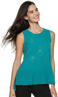 Juicy Couture Women's Embellished High-Low Tank