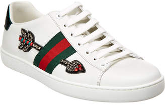 Gucci Ace Embroidered Low-Top Leather Sneaker