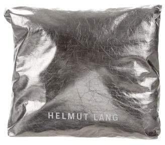 Helmut Lang Metallic Fold-over Bag