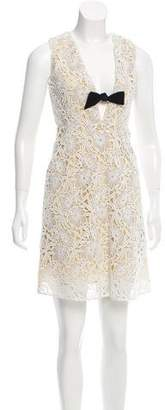 Burberry Lace Bow-Accented Dress w/ Tags