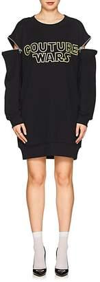"Moschino Women's ""Couture Wars"" Cotton Sweatshirt Dress"