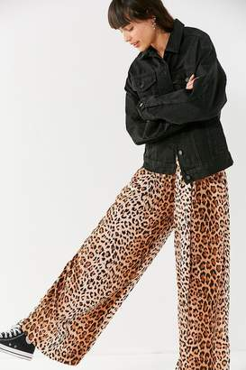 Urban Outfitters Shea Leopard Print Wide-Leg Pant