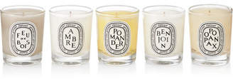 Diptyque Feu De Bois, Ambre, Pomander, Benjoin And Opopanax Set Of Five Scented Candles, 5 X 35g - Colorless