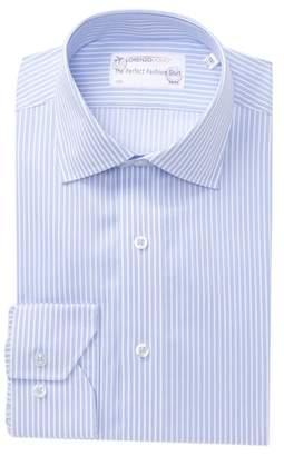 Lorenzo Uomo Twill Stripe Traditional Fit Dress Shirt