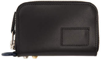 Sacai Black Leather Small Zip Around Wallet
