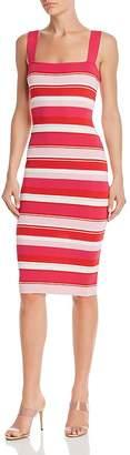 Bardot Striped Body-Con Midi Dress