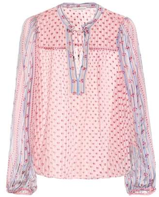 Ulla Johnson Constance printed silk blouse