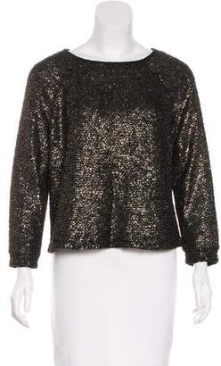 Alice + Olivia Metallic Bateau Neck Sweater