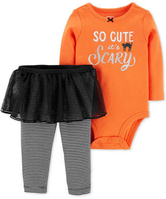 Carter's Baby Girls 2-Pc. Bodysuit & Tutu Pants Set