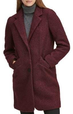 Andrew Marc Pressed Boucle Wool Coat