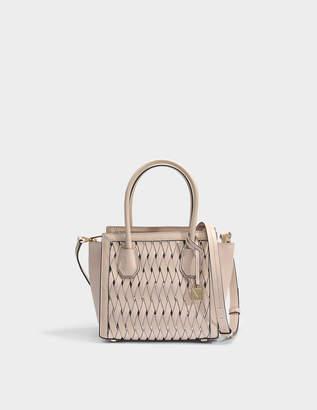 2c3a6826b2 MICHAEL Michael Kors Mercer Studio Medium Messenger Bag in Soft Pink Smooth  Weave