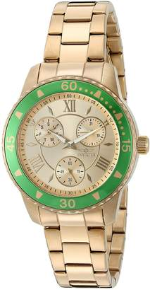 Invicta Women's 'Angel' Quartz Stainless Steel Automatic Watch, Gold-Toned (Model: 21768)
