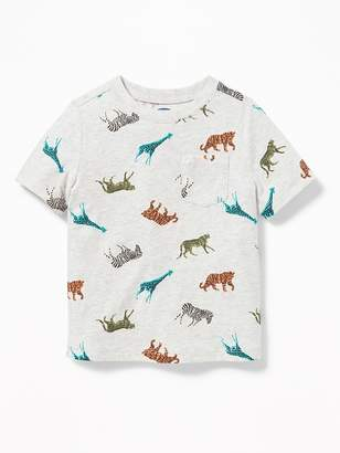 Old Navy Printed Pocket Tee for Toddler Boys