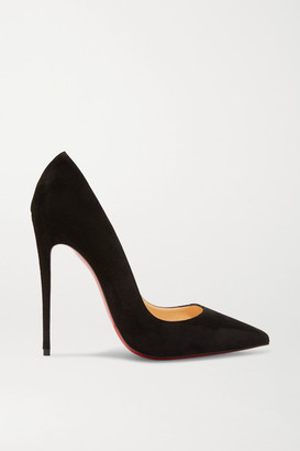 Christian Louboutin So Kate 120 Suede Pumps - Black