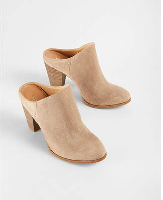Express Heeled Slide Mule Booties $59.90 thestylecure.com