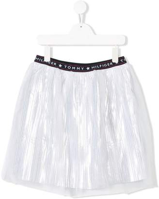 Tommy Hilfiger Junior embroidered flared mini skirt