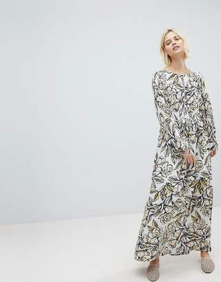 Suncoo Floral Maxi Dress with Tie Back