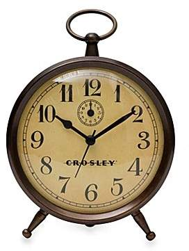 Crosley Vintage Finial Tabletop Clock