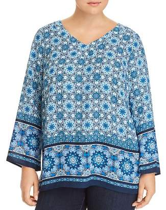 Status by Chenault Plus Medallion-Print Top