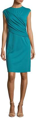 Lafayette 148 New York Women's Ruched Wrap Front Knee-Length Dress