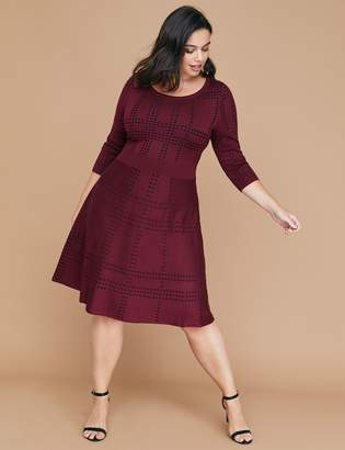 Lane Bryant Patterned Sweater Dress