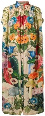 Carolina K. Scared Plants tent shirt dress