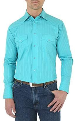 Wrangler Men's Sport Western Two Pocket Long Sleeve Snap Shirt