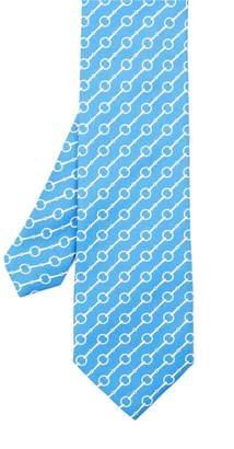 J.Mclaughlin Italian Silk Twill Tie In Horsebit