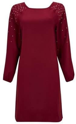 Wallis Berry Embellished Stud Shift Dress