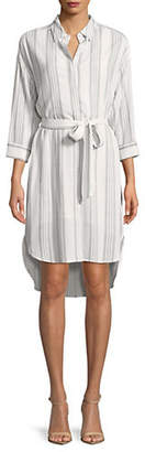 HIGHLINE COLLECTIVE High-Low Tie Shirtdress
