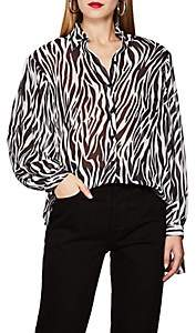 Robert Rodriguez Women's Zebra-Print Georgette Blouse - White