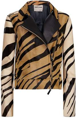Roberto Cavalli Haircalf Biker Jacket