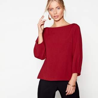 J by Jasper Conran Red Tuck Sleeves Crepe Top