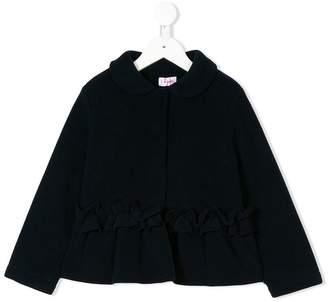 Il Gufo gathered ruffle jacket