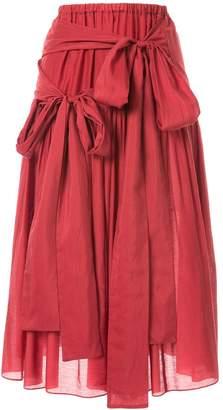 Sara Lanzi tie-fastening high-waist skirt