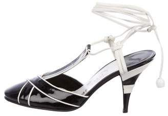 Chanel Patent Leather T-Strap Pumps