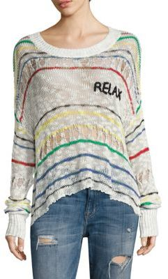 Wildfox Sun Kissed Relax Striped Knit Top $132 thestylecure.com