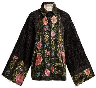 By Walid - Marion Embroidered 19th Century Silk Jacket - Womens - Pink