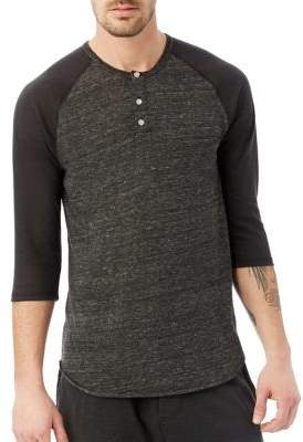 Alternative Colorblocked Raglan Henley