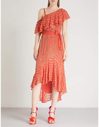 Temperley London Mosaico metallic-embellished crepe midi dress