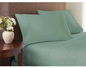 Color Sense 400 Thread Count Cotton Sheet Set Silky Touch Full Green